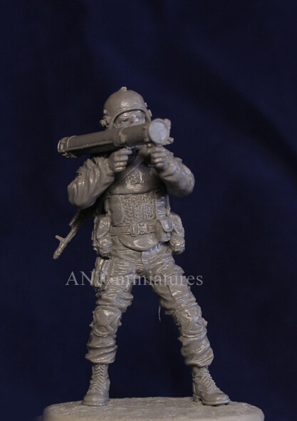 Resina Kits 1/35 escala rusas modernas rockets soldados resina modelo juguetes DIY