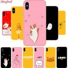Cover For iPhone 6s 6 s 7 8 Plus 7plus 8plus Case Silicone TPU Soft Phone iphone XS MAX XR X S Coque Funda giraffe