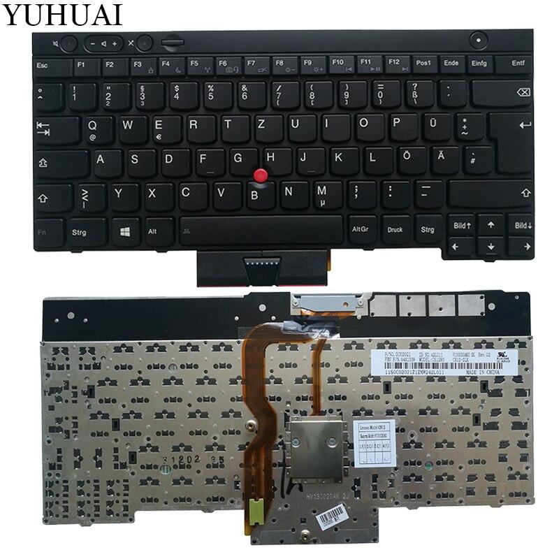 Nouveau clavier d'ordinateur portable allemand pour LENOVO THINKPAD T530 T530i T430 T430s X230 W530 L430 L530 GR clavier noir sans rétro-éclairage