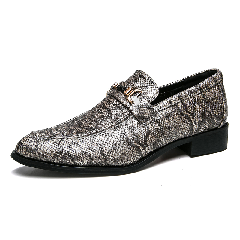 men's snake skin cool platform oxfords patent leather shoes male footwear wedding fashion famous designer brogue shoes for men (31)