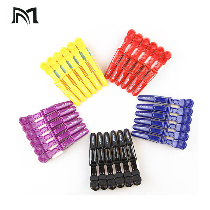6Pcs/bag Professional Salon Section Hair Clips DIY Hairdressing Hairpins Plastic Hair Care Styling Accessories Tools Purple One