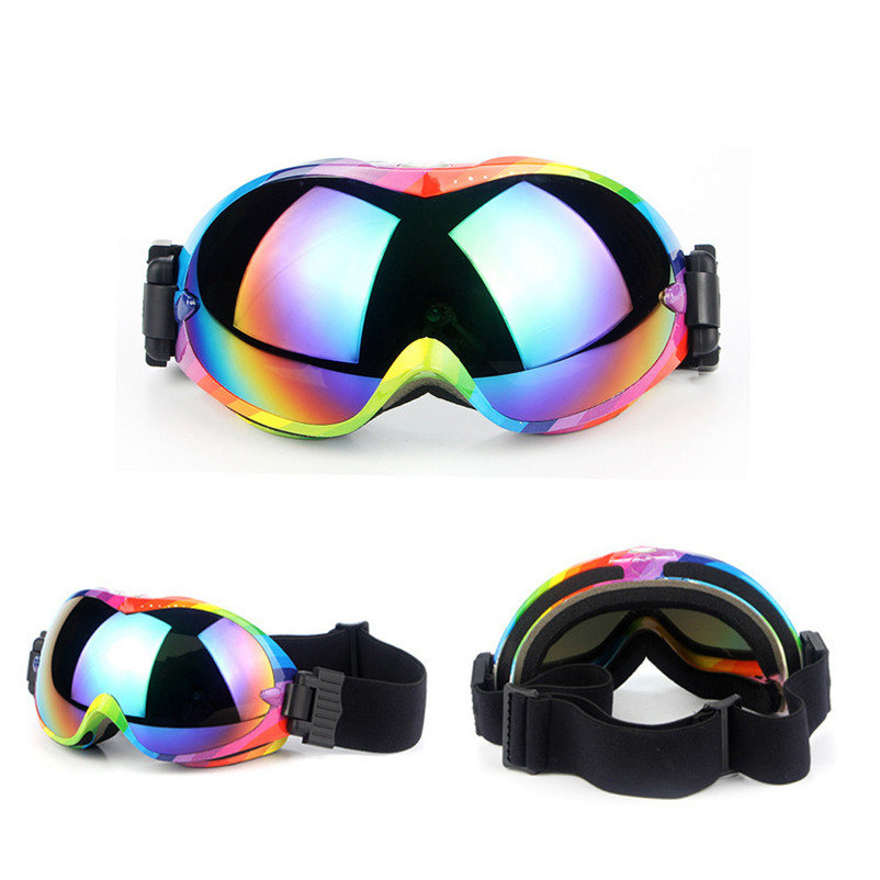 New Cycling Glasses Polarized Ski Snowboard Motorcycle Dustproof Sunglasses Goggles Lens Frame Eye Glasses #2A12