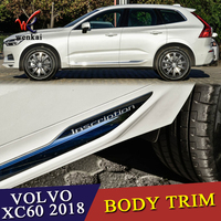Car Styling ABS Chrome Accessories 4pcs Outer Side Panel Door Body Molding Trim Protector For Volvo