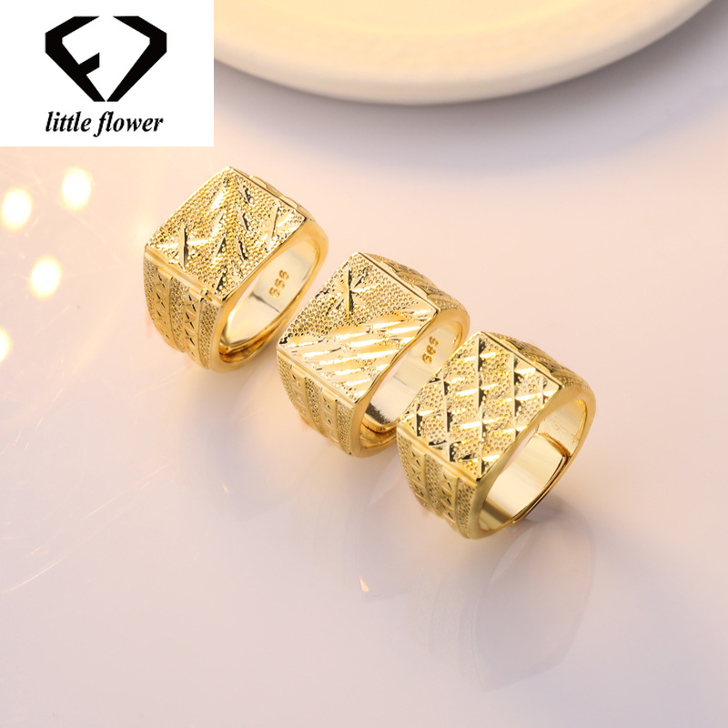 Men's 14K Gold Diamond Ring Anillos De Bague Bizuteria Etoile Diamante Open Rings Wedding Jewelry Gem Hip Hop Big Rings Stones