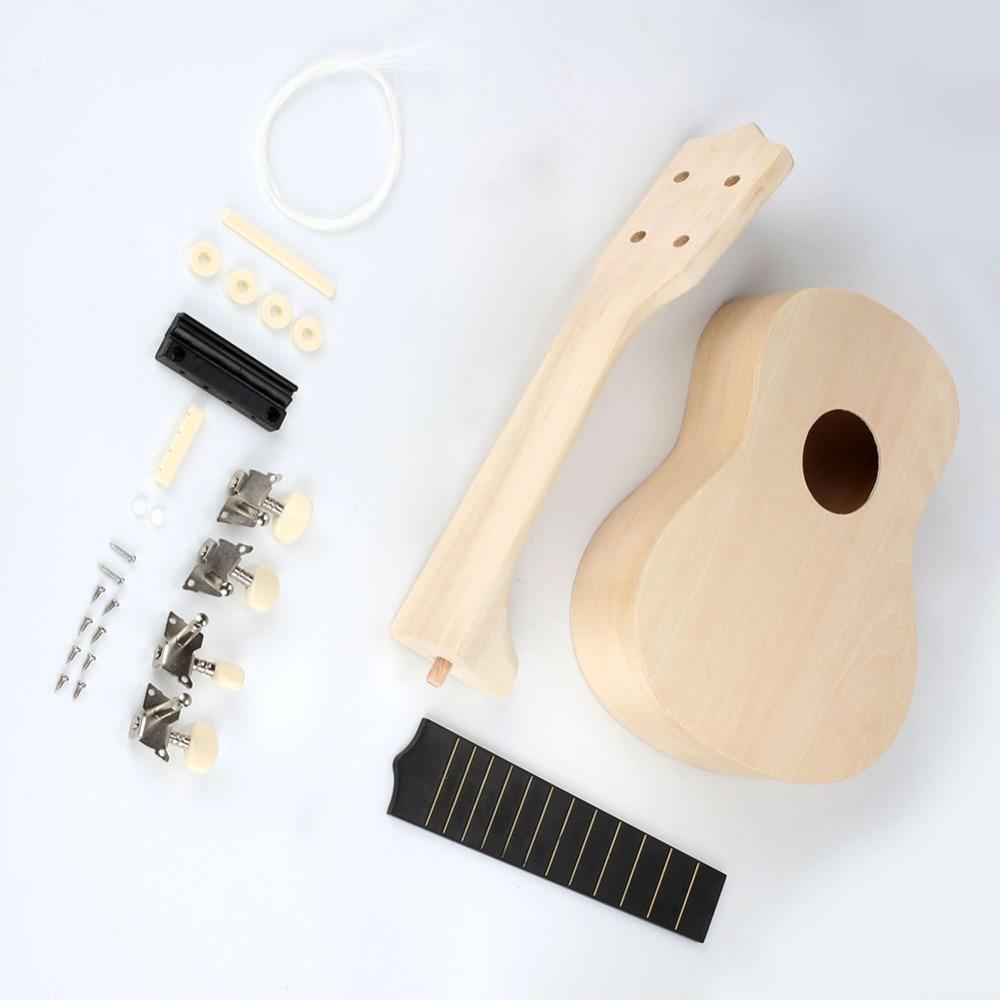 New 21inch Ukulele DIY Kit Hawaii Guitar Handwork Support Painting Mini Guitar Couple Gift Ukelele picks Children's Toy