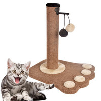 APAULAPET New Paw Print Cat Toy Cat Climbling Cat Furniture Cat Scratcher Tree Scratch Toy For Pet Kitten Jumping