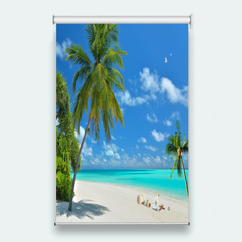 Coconut tree 3D Roller Blind for Any room decoration Printing Roller Blinds Curtains Anti Mosquito Shade Roller Blinds