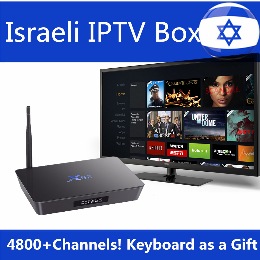 X92 android tv box Israel IPTV Box Europe Arabic French Sweden Spain French  iptv subscription 32GB Rom Amlogic S912 smart tv Box-in Set-top Boxes from