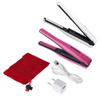 Flat Iron Ceramic Tourmaline Plate Rechargeable Hair Straightener Styling Tool