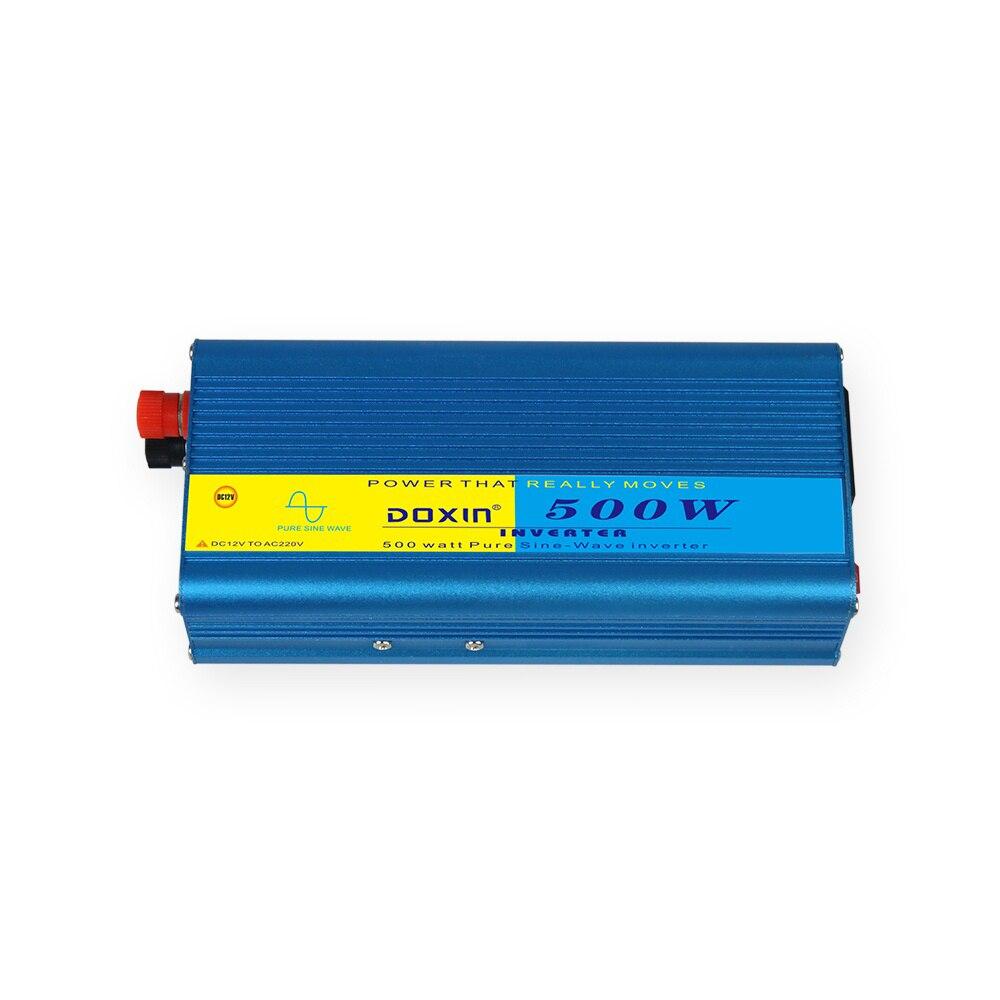 500W Car Inverters DC 12V - AC 220V Pure Sine Wave 50Hz Power Inverter Adapter Auto Supply USB Charger Converter