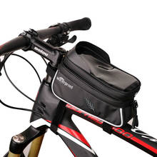 Rainproof Cycling Bike Front Frame PU Bag Tube Pannier Double Pouch for 5-6Inch Cellphone Bicycle Accessories Riding Bag цена в Москве и Питере