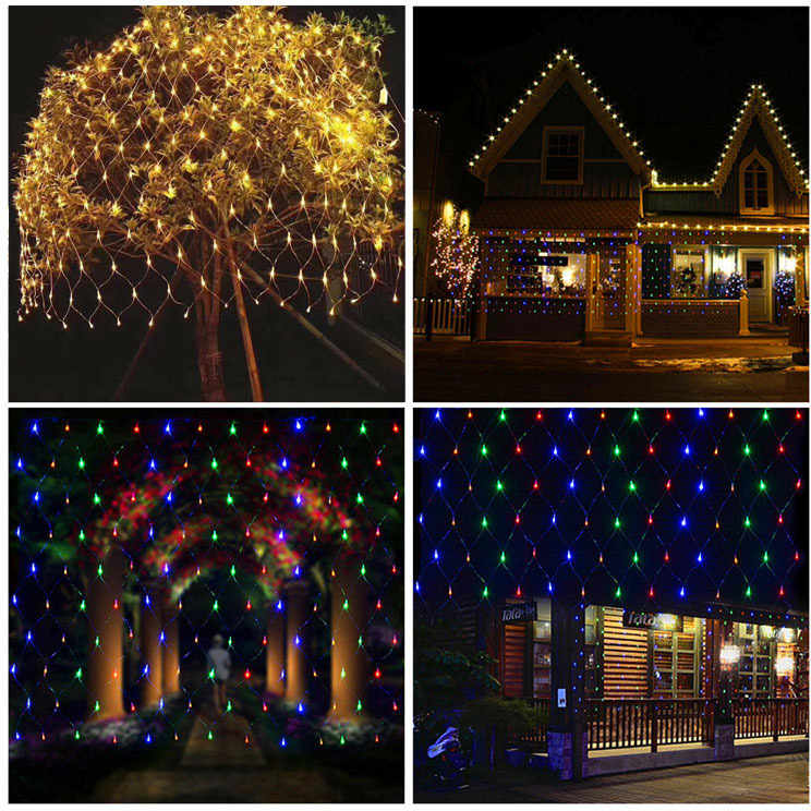 Lights Mesh Christmas Fairy Decoration Outdoor Led Net Light Garden Decorative Waterproof 220v 110v Wedding Party Holiday