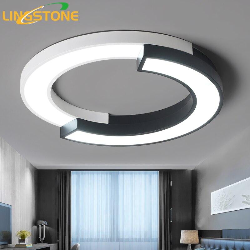 Moderne Led Plafonniers pour le Salon Encastré Luminaires Plafonnier avec Télécommande Cuisine Lampe Ronde