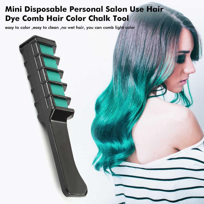 1 pc Kişisel Salonu Kullanımı Mini Saç Boyası Tarak Tek Kullanımlık Boya Kalemi Gri Mor kızıl saç Rengi Tebeşir Saç Boyama Aracı