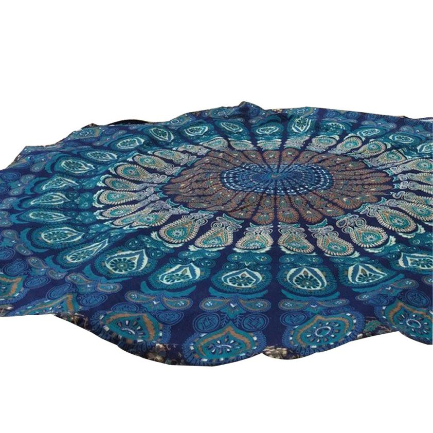 Black Friday VOT7 vestitiy 150cm/59.0 Round Beach Pool Home Shower Chiffon Towel Blanket Table Cloth Yoga Mat,Aug 10
