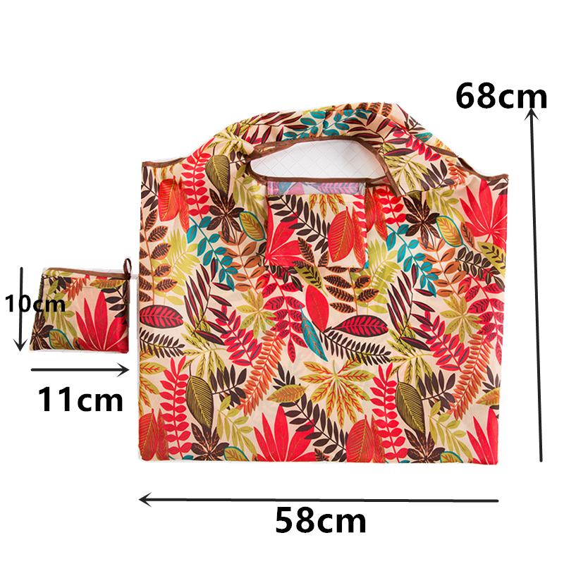 Women Reusable Shopping Bag Foldable Bag Tote Pouch Recycle Waterproof Storage Handbags Sample Travel Bag