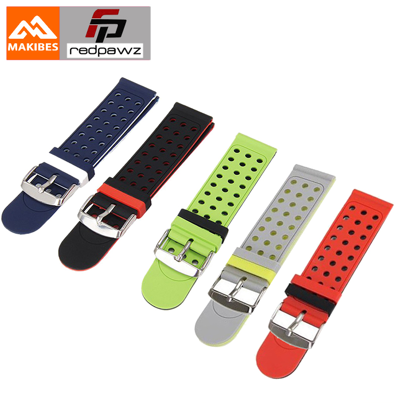 все цены на Makibes Universal Replacement Silicon Watch Bracelet Strap 20mm for Xiaomi for Huami Amazfit Bip Ticwatch 2 Ticwatch E&S онлайн