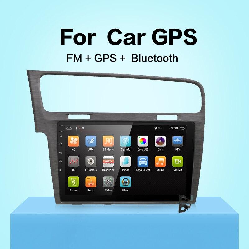 10.1 Android 7.1 Voiture GPS Lecteur pour VW Golf 7 2013-avec Quad Core 2 gb No Dvd multimédia Navigation Radio Headunit