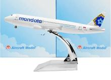Indonesia Mandala Airlines Airbus 320 16cm model airplane kits child Birthday gift plane models toys Christmas gift kids toys