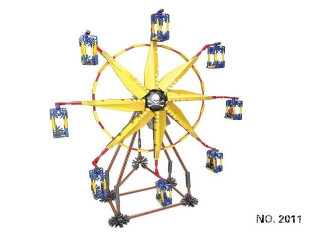 Conjuntos de Blocos de Construção LOZ Geocaching Modelo Grande Moinho de vento Giratório Elétrico brinquedo modelos em escala Brinquedos DIY Iluminar Tijolos Blocos