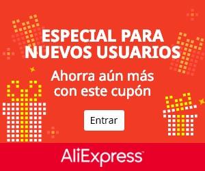 Plataforma compra online: Aliexpress (cupón nuevos usuarios)