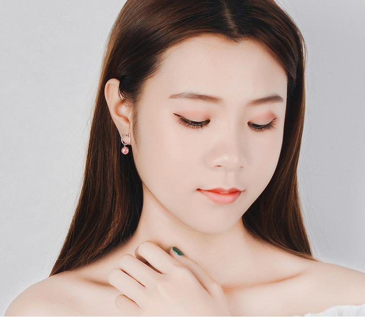New Arrivals Trendy Little Cat Animal Crystal 925 Sterling Silver Lady Stud Earrings Original Jewelry For Women Anti Allergy in Stud Earrings from Jewelry Accessories
