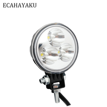 ECAHAYAKU 3Inch 9W Waterproof Offroad Car LED Round Spot/Flood Work trail driving Light  FOR Auto Motorcycle Tractor Boat SUV