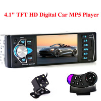 4022D 1 Din Car MP5 Video Player Auto Radio Audio Stereo FM Bluetooth TFT Screen with Rear View Camera Steering Wheel Control