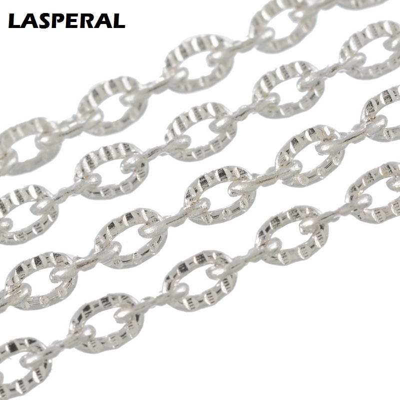 LASPERAL Womens Jewelry Making Accessories Silver Color Link Chain Fit Belt Necklace Bracelet Bag Chain Mens Statement Jewelry