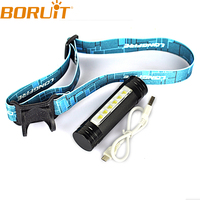 2 IN 1 350Lumen LED Headlamp Adjustable Durable 3 Mode Zoomable Head Torch Light Bike Bicycle