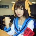 The Melancholy of Haruhi Suzumiya Head cos clothes Suzumiya cosplay costume Sailor uniforms Complete set Free shipping