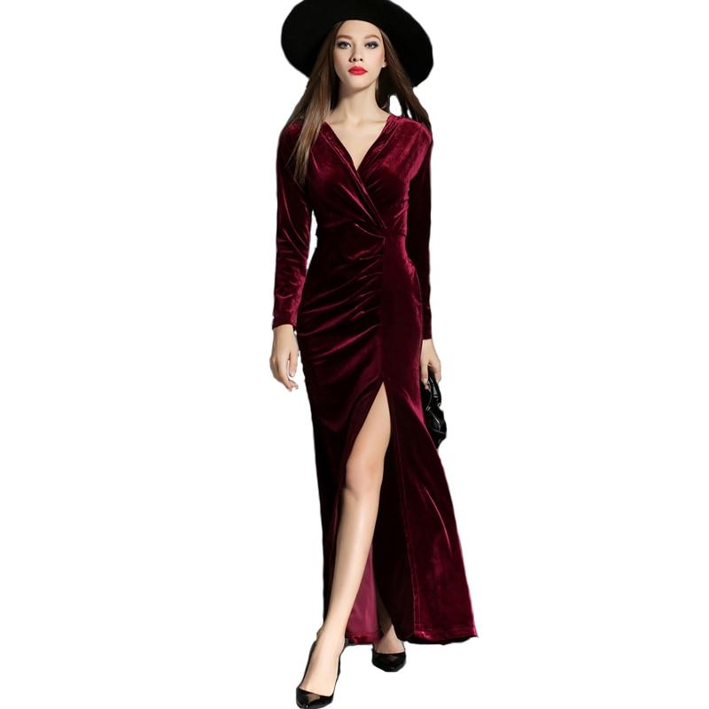 online store 026f5 92a92 Caviglia Lunghezza Elegante di Alta Split Donna Velluto ...