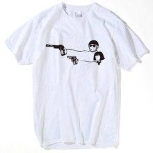 Подарок ко Дню Святого Валентина, фильм Леон, профессиональная футболка для мужчин и женщин, футболки, мультяшный Леон Матильда, забавная парная футболка для влюбленных