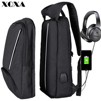 XQXA Men's Backpacks Laptop Business New Design Casual Back Pack For Teenagers School Bagpack Large Black Computer Backpack Male
