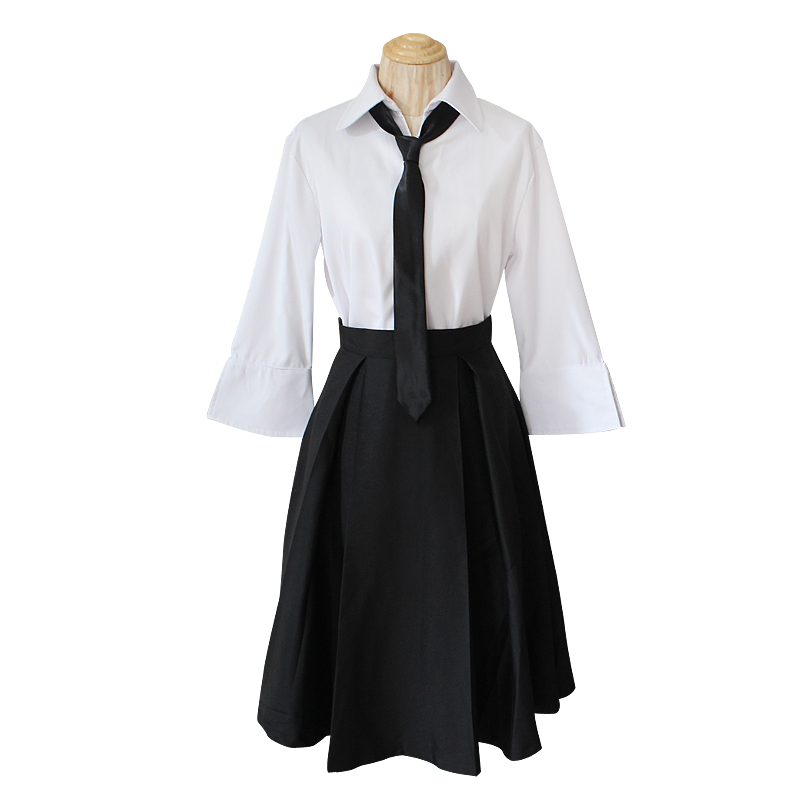 Anime Bungo Stray Dogs Detective Agency Member Akiko Yosano Cosplay Costumes  School Uniform Suit T88146