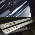 Free shipping Door Sill Scuff Plate Car Accessories For Porsche macan S Diesel GTS Turbo 2014-2017