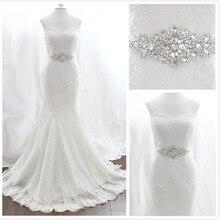 Очаровательный акции изображения скидка удивительные блестящие хрустальные реального бусины пояса свадебные