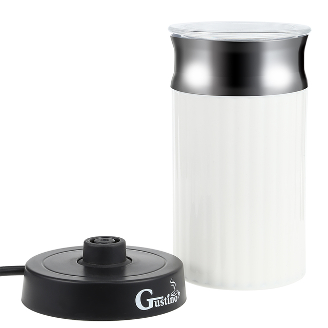Gustino Electric Coffee Maker Automatic Milk Frother Cappuccino Coffee Maker For Hot Frothing Heating Milk Cold Frothing