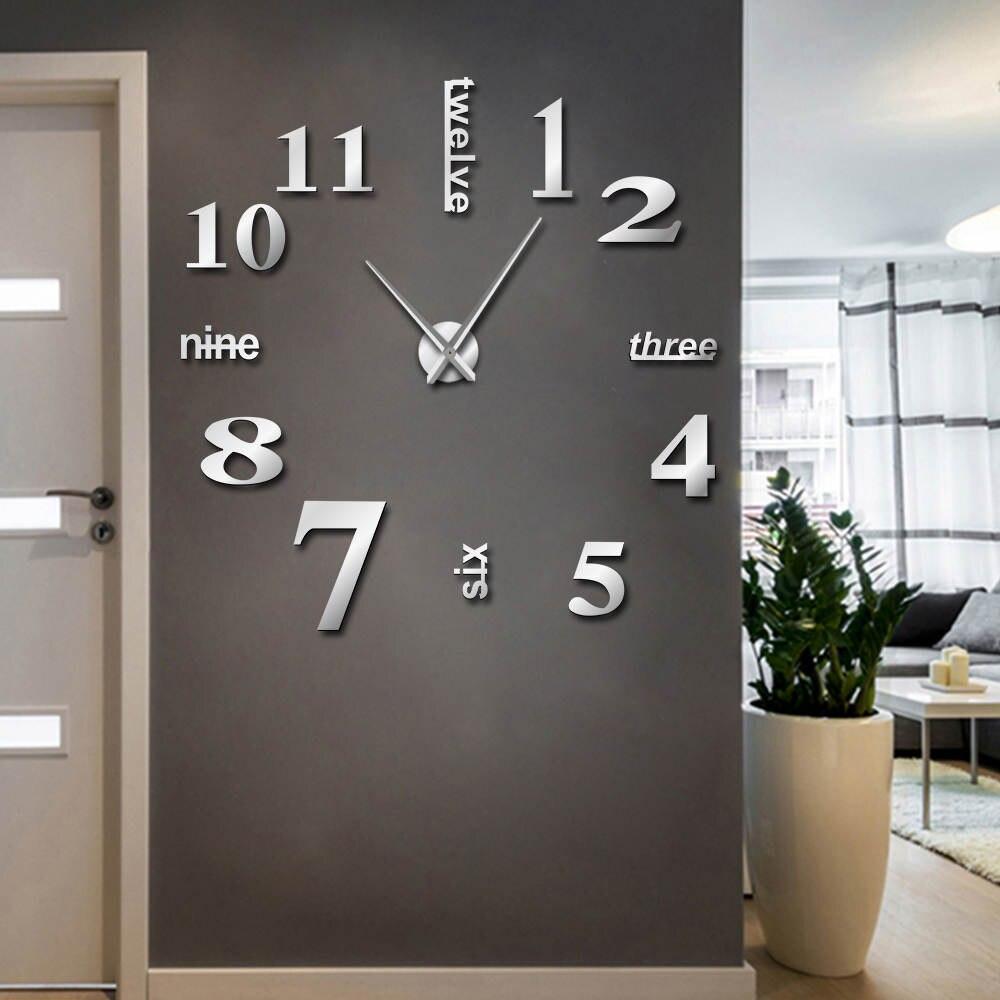 3ce49fed91d Relógios de Parede gigante sem moldura decorativa Combinação   Separados