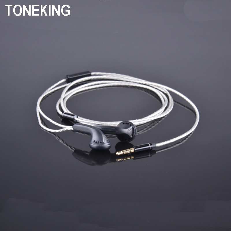 Original TONEKING TP16 Monk Earphone Flat Head Plug Earplugs Universal K Songs Earbuds With Microphone DIY HIFI In Ear Earphones