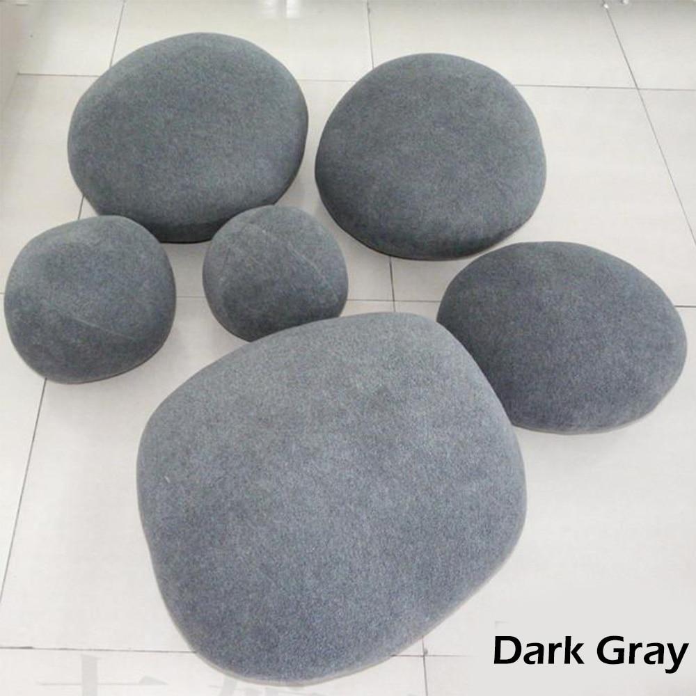 Колонна камни галька подушки табурет для ног 3D искусственный огромный живой большой рок бросок подушки плюшевые игрушки для детей креативный дом D20