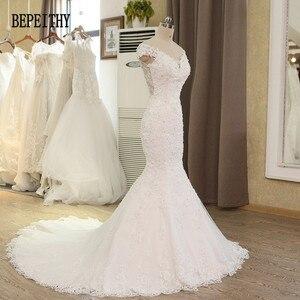 Image 3 - BEPEITHY Vestido De Novia con hombros descubiertos, novedad, vestidos De Novia con cuentas De encaje, sirena, boda, 2019