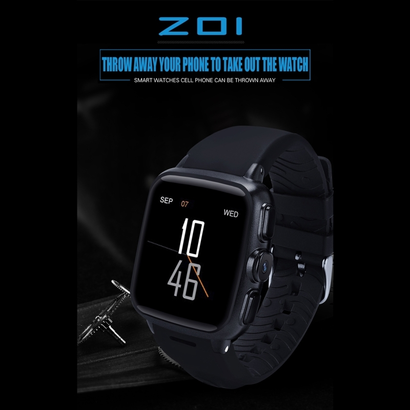 Z01 3G Smart Watch Phone 5.0MP Camera 320 x 320 screen Android 5.1 support SIM Card WIFI GPS Heart Rate Smartwatch