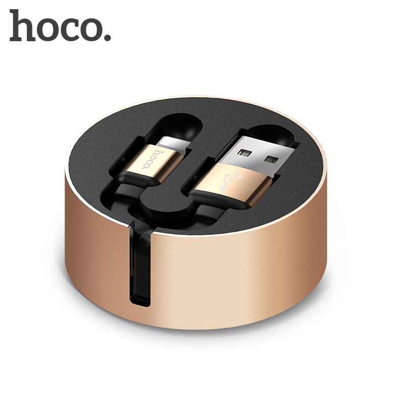 HOCO USB Cable For iPhone Retractable Fast Charging Cable For iPhone X 8 7 6 5 Charger USB Cable Phone Charging Wire Cabo Line
