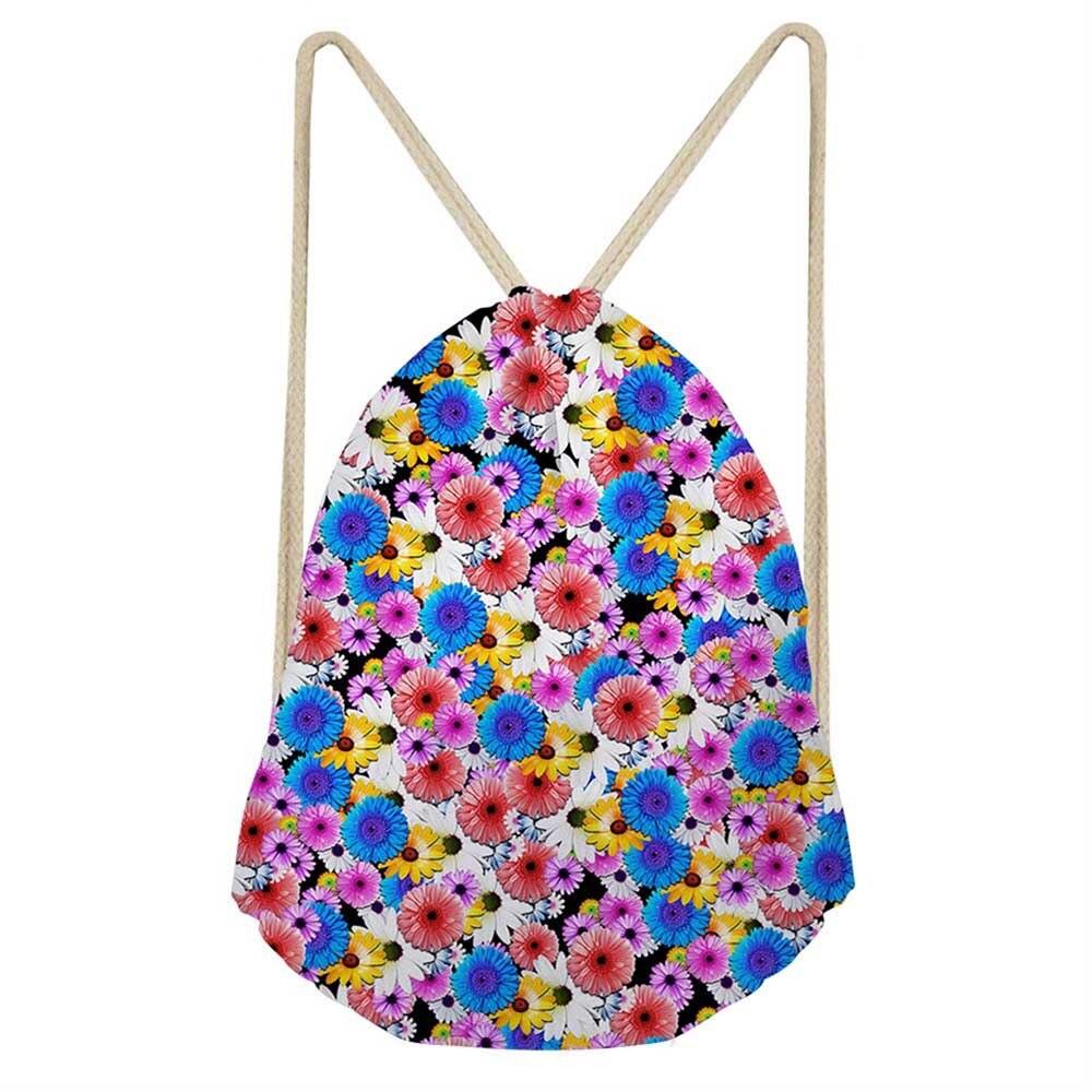 Noisydesigns Colour Lovely  Printing Drawstring Bag Women Backpack Children For Teenager Girls Cinch Mochila Escolar