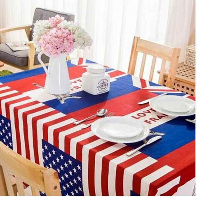 Round Table Cloth The Mediterranean Fresh Tea Suit European Simple Tablecloth Uk Flag