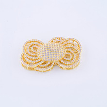 Fashion Jewelry Vintage Zircon Flower Charms Connectors For Bracelet Women Diy Copper Micro Pave Charms Jewelry Accessories Gift