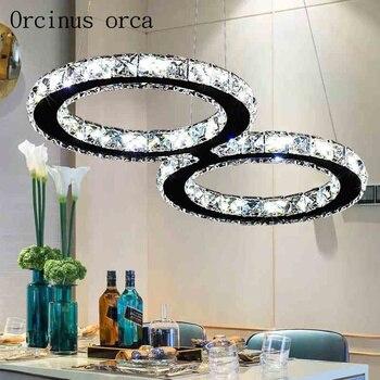 HA CONDOTTO LA lampada di cristallo ristorante creativo lampadario moderno e minimalista soggiorno camera da letto della lampada di illuminazione