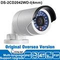 DS-2CD2042WD-I Hik 4MP Câmera IP P2P Bala IR Câmera de Rede IP câmera de Segurança Ao Ar Livre IP67 POE ONVIF H.264/MJPEG/H.264 +