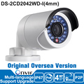 DS-2CD2042WD-I Hik IP Camera 4MP Outdoor P2P IR Bullet Network Camera Security IP camera POE ONVIF IP67 H.264/MJPEG/H.264+